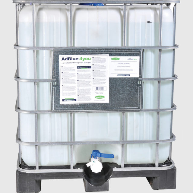 GreenChem AdBlue4You 1000Liters IBC with Manual or electrical pump.
