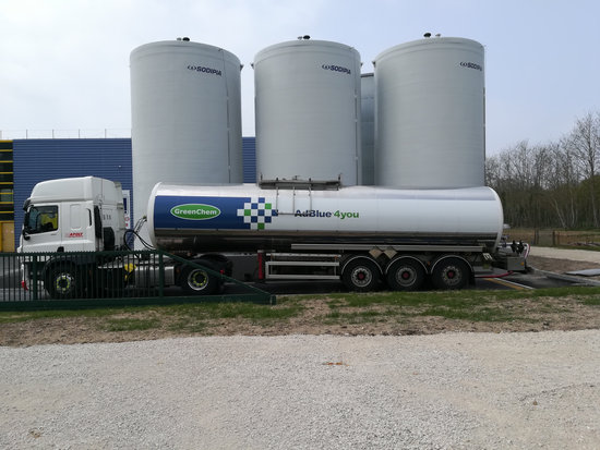 GreenChem Adblue transport truck